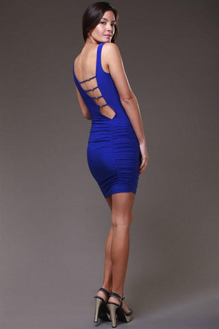 Blue Bella Sexy Back Dress