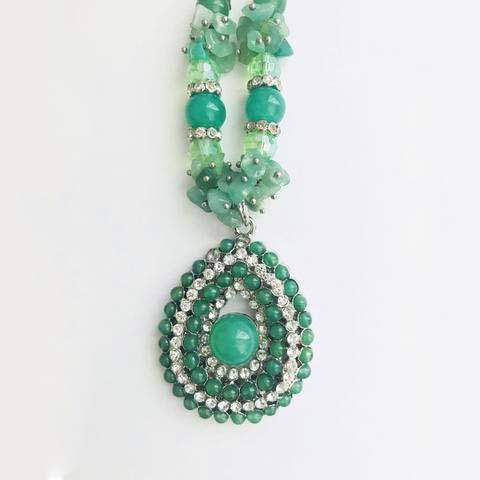EXOTIC EMERALD STONE JEWELRY SET - tavoosfashion