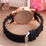 TRENDY SILICONE CHAIN WRIST WATCHES - tavoosfashion