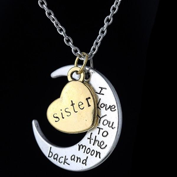 I love you sister gold engraved letter pendants statement necklace i love you sister gold engraved letter pendants statement necklace sister aloadofball Choice Image