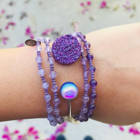RARE HANDMADE DRUZY ADJUSTABLE BRACELETS - tavoosfashion