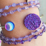 Handmade Purple Bracelets Adjustable - tavoosfashion