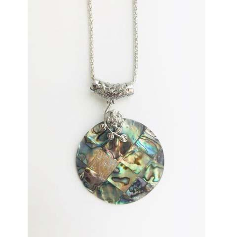 GLAMOROUS ABALONE ROUNDED NECKLACE - tavoosfashion