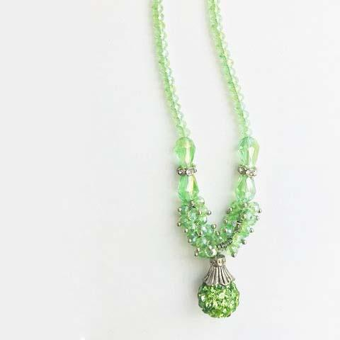GREEN BEADS JEWELS NECKLACE - tavoosfashion
