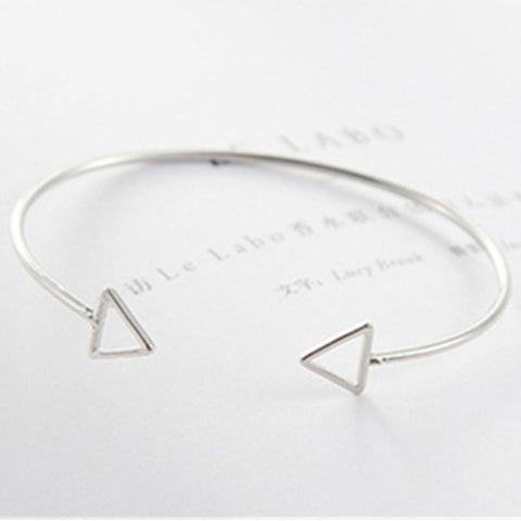 HOLLOW TRIANGULAR GEOMETRIC BRACELET - tavoosfashion