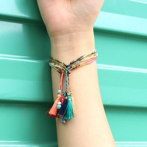 TASSEL BEADS BRACELET - tavoosfashion
