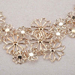 Elegant Camillion Flowers Hollow Muli-layer Necklace