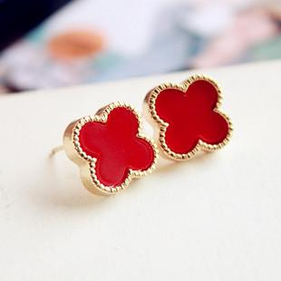 SIMPLE CLOVER EARRINGS - tavoosfashion