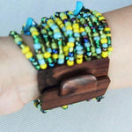 MULTI-LAYERED BEADS BRACELET - MIX GREEN - tavoosfashion