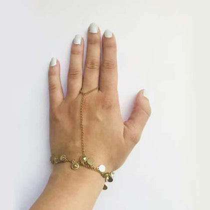TRENDY BOHO BRACELET RING - tavoosfashion