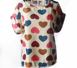 COLORFUL CHIFFON PATTERN BLOUSE - tavoosfashion
