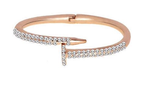 TRENDY NAILS BRACELET COPPER BANGLES - tavoosfashion