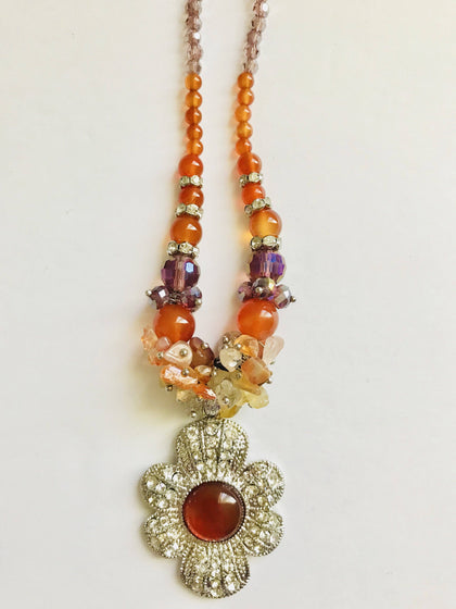 CLASSIC CARNELIAN BEADED JEWELRY SET - tavoosfashion