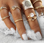 AIYLA TURKISH BOHO RING SETS - tavoosfashion
