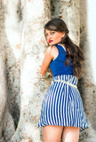 Lightweight Stripe Blue White Dress