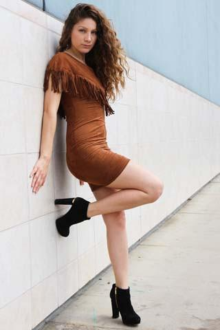 GALIAHI FAUX SUEDE DRESS - tavoosfashion