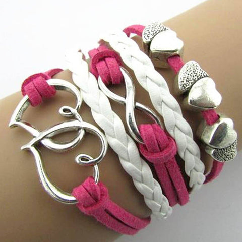 1INFINITY BRAIDED CHARM WRAP BRACELET - tavoosfashion