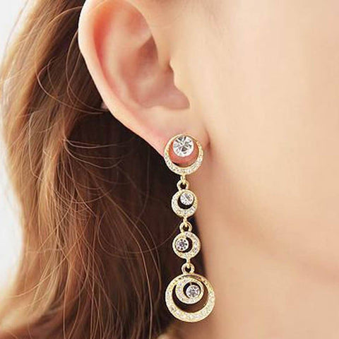 CRYSTAL GEM DROP EARRINGS - tavoosfashion