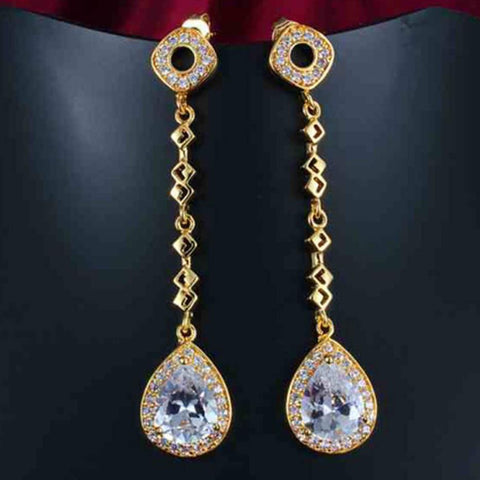 Classy Aesthetic Teardrop Jewel Earrings