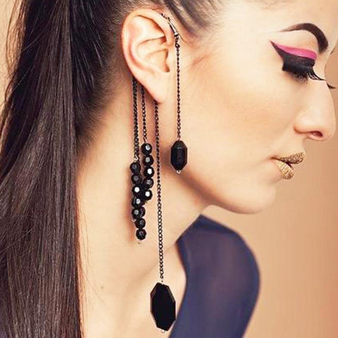 UNIQUE BLACK TASSEL EAR HOOK - tavoosfashion