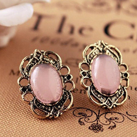 HOLLOW OUT LACE STUD EARRINGS - tavoosfashion