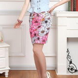 PENCIL FLORAL PRINT SKIRTS COLORFUL - tavoosfashion