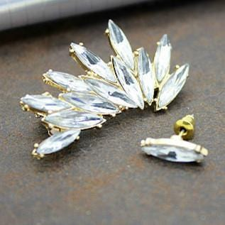 Unique White Jewel Wing Stud Earring