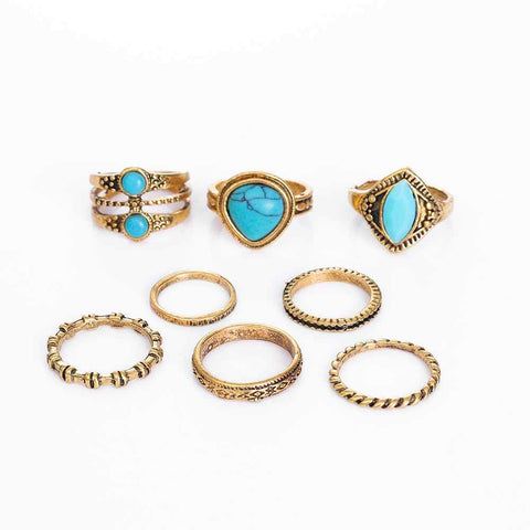 BOHO CHARM MIDI RINGS - tavoosfashion