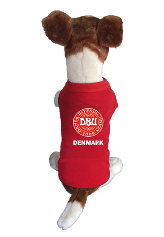 Denmark  Dog Soccer Jersey-  Sports t-shirt - World Cup 2018