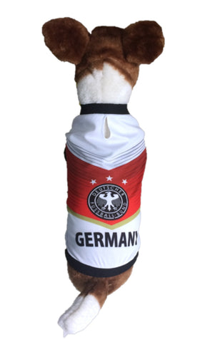 Germany Dog Soccer Jersey-T-shirt World Cup 2018