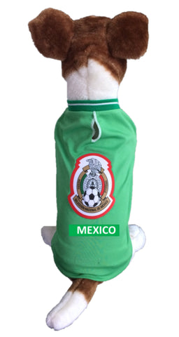 Mexico Dog Soccer Jersey-T-shirt Copa America 2019-Fifa Gold Cup