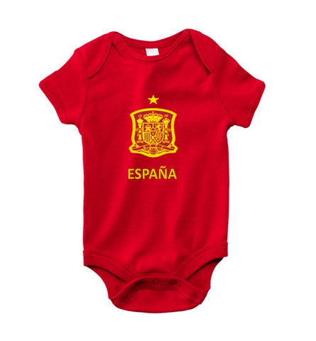 Spain baby short sleeve Rabbit bodysuits-futbol-t shirt-soccer jersey