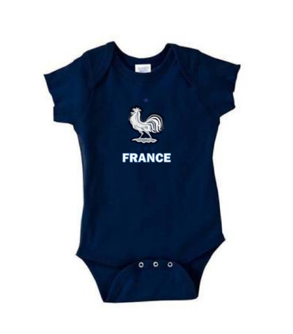 France baby short sleeve Rabbit bodysuits-futbol-t shirt-soccer jersey