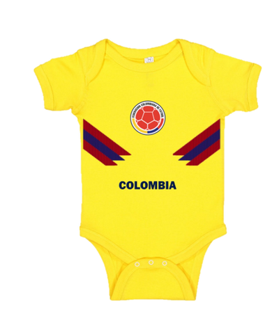 Colombia baby short sleeve Rabbit bodysuits-futbol-t shirt-soccer jersey