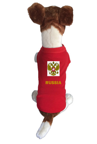Russia Dog Soccer Jersey-  Sports t-shirt - World Cup 2018