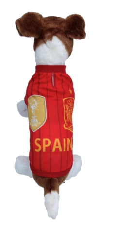 Spain Dog Soccer Jersey-Free shipping
