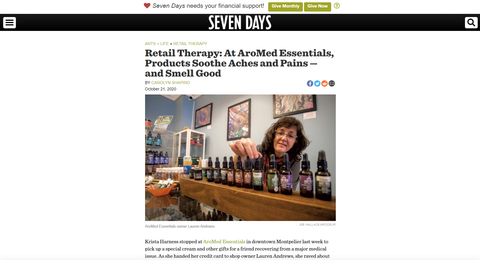 AroMed Essentials Featured in Seven Days
