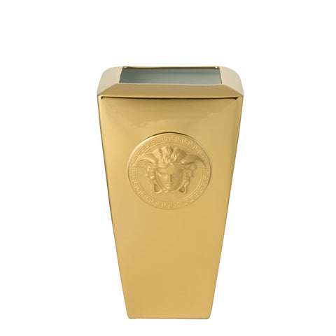 Versace Medusa Gold Vase 24cm Fine Et Flair Furniture Inc
