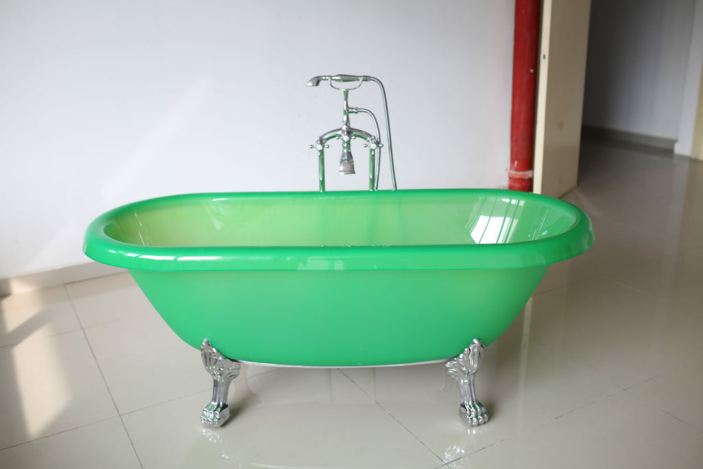"Glass Bathtub bathtub free-standing whole glass bathtub claw-foot from 59"" to 71"