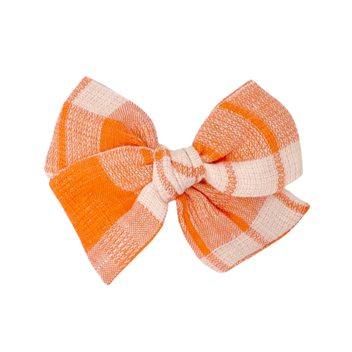 Pumpkin Plaid :: Voyager Bow