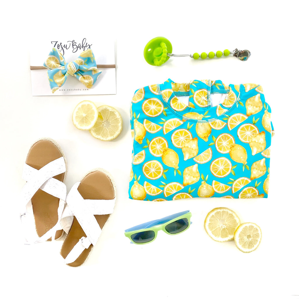 Lemons :: Swim Zip :: Swim Scrunchie