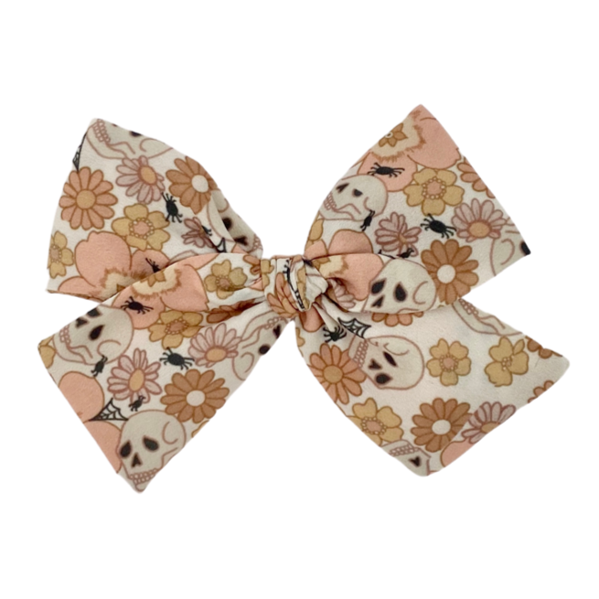 Floral Skulls :: Oversized Indy and Pippa Bow