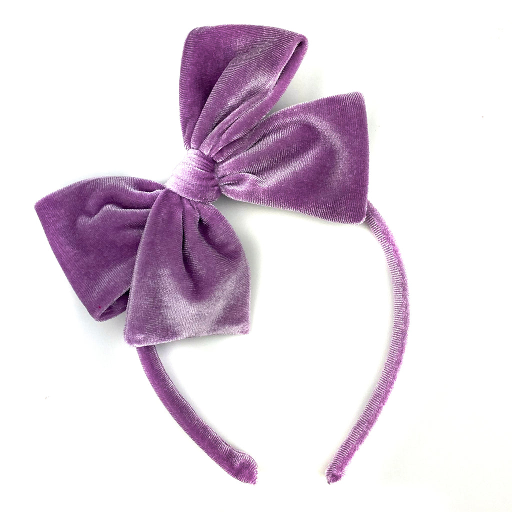 Amethyst Velvet :: Big Girl Headband