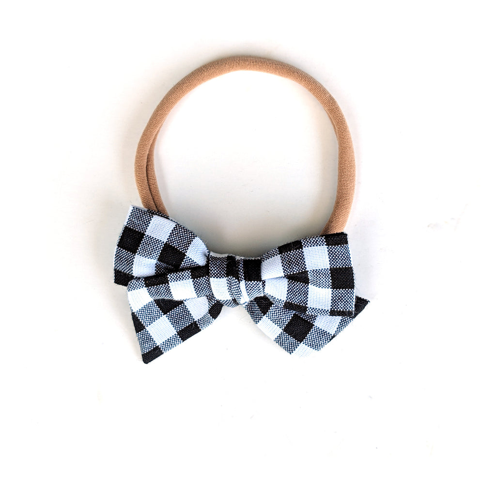 Basic Gingham :: Mini Voyager Bow
