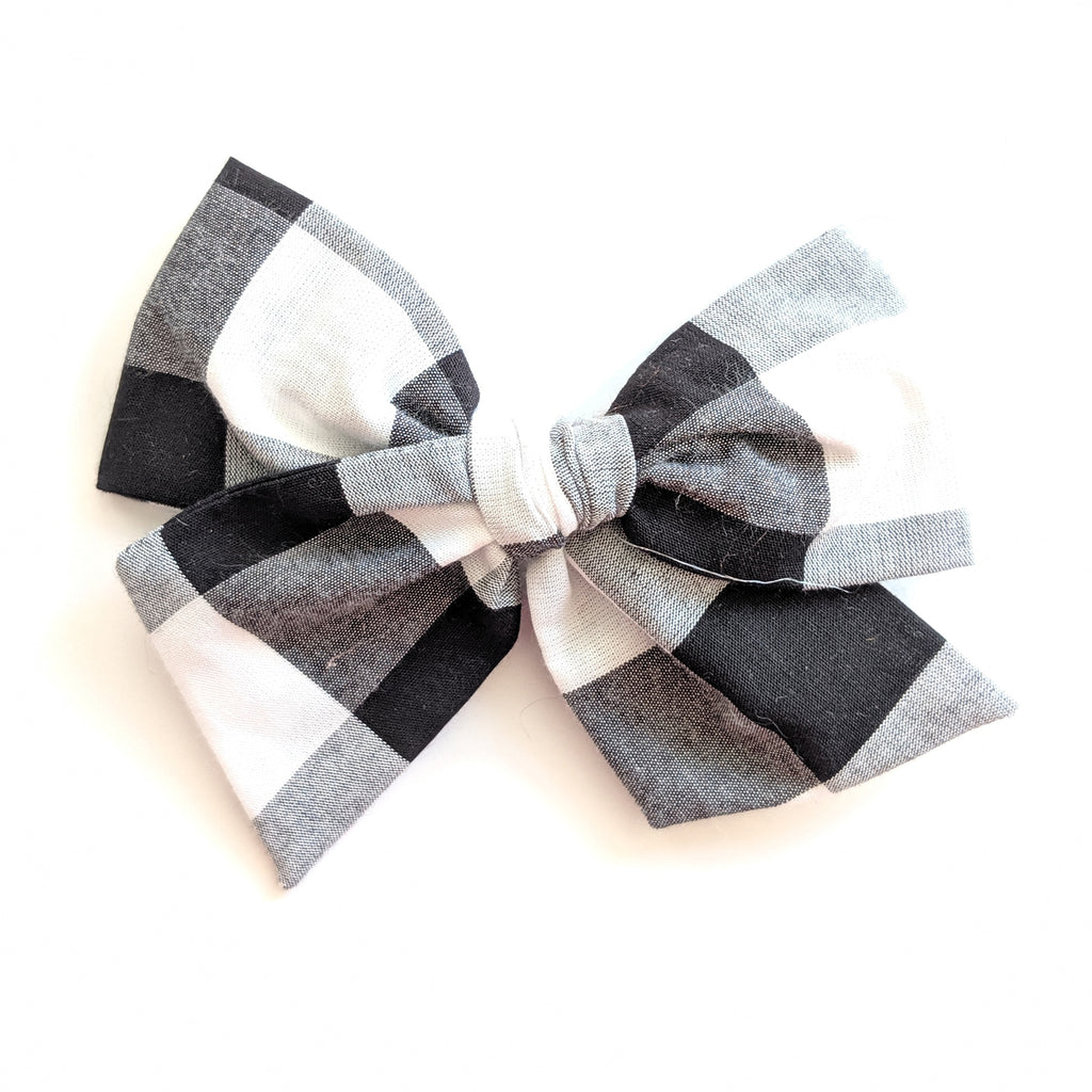 Black and White Check :: Voyager Bow