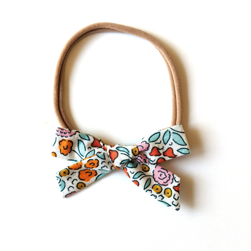 Blue and Orange Floral :: Mini Explorer