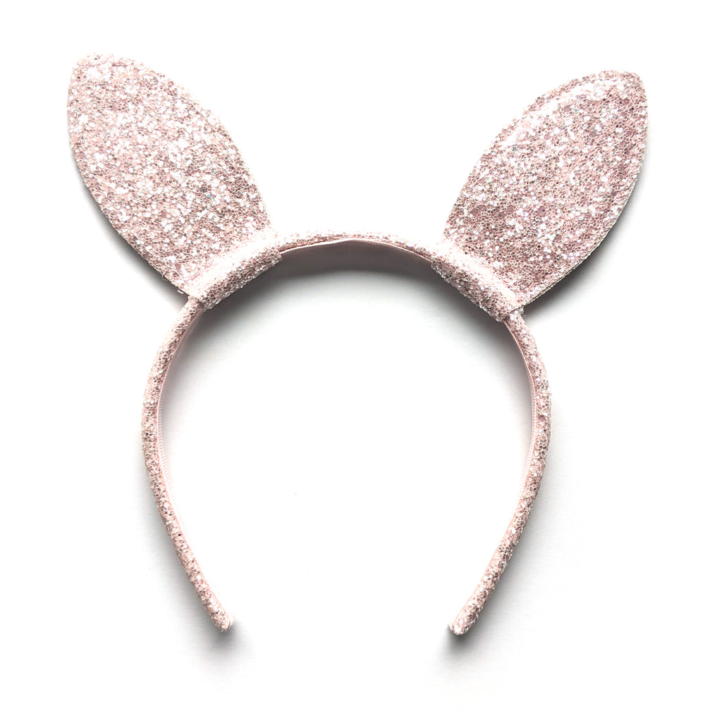 Bunny Ears :: Blush Glitter :: Big Girl Headband