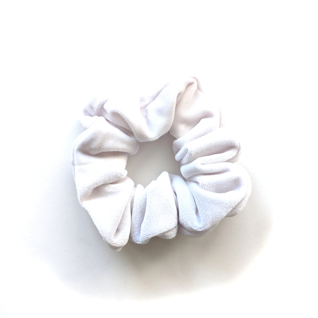 Bright White :: Velvet Scrunchie