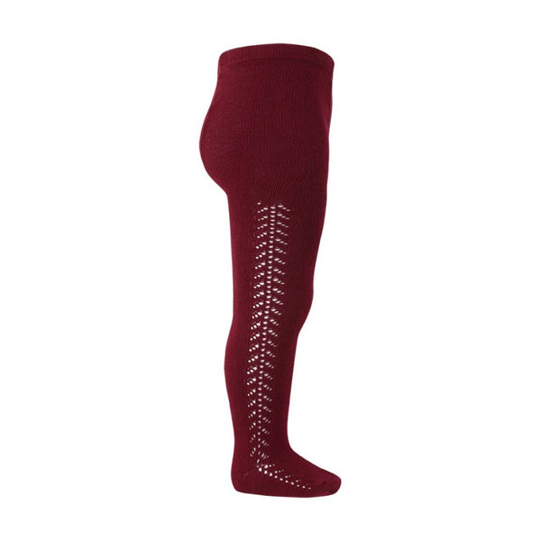 Burgundy :: Side Crochet :: Condor Tights