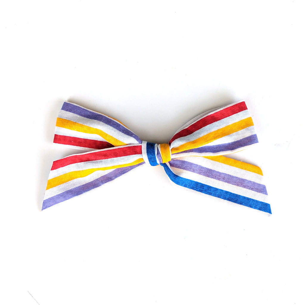 Carnival Stripe :: Oversized Explorer Bow